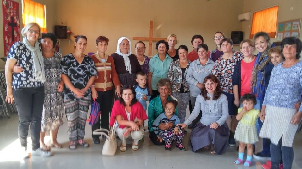 peggy banks in albania with the larger twr women of hope team compressor