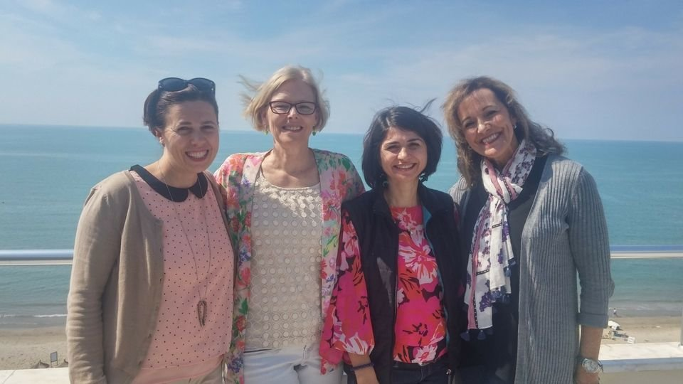 peggy in albania with the twr women of hope team compressor