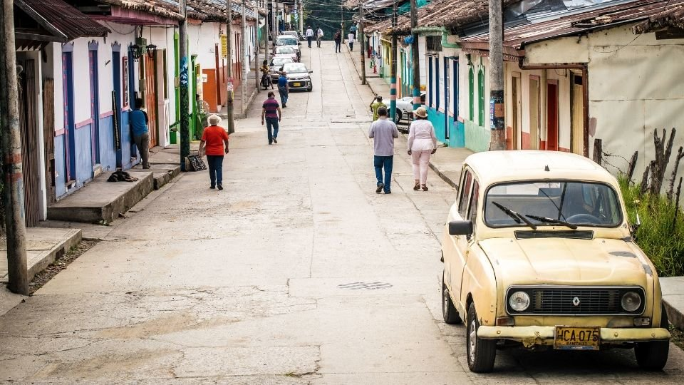 street scene in colombia by delaney turner compressor